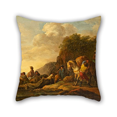 Diy Raptor Costume (Alphadecor Oil Painting Casanova, Francesco Giuseppe - Ferry Boat Pillow Shams 16 X 16 Inches / 40 By 40 Cm Gift Or Decor For Lover,saloon,shop,living Room,christmas,office - Twice Sides)