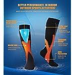 Compression Socks Men Women 20-30 mmHg Support Socks for Run, Soccer, Travel, Flight, Sports, Basketball, Recovery, 3 Pack, S/M, L/XL, XXL