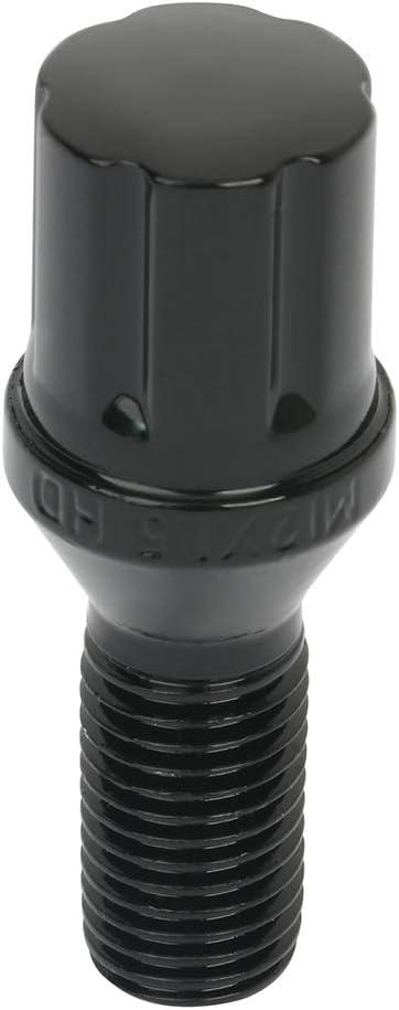 1PCS lug nuts key fit for 2003-2016 BMW Z4 2001-2003 BMW Z8 2004-2016 BMW X3 FEIPARTS 12x1.5 26mm 20PCS Black wheel lug nuts