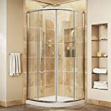 DreamLine Prime 33 in. D x 33 in. W Kit, with Corner Sliding Shower Enclosure in Chrome and White Acrylic Base