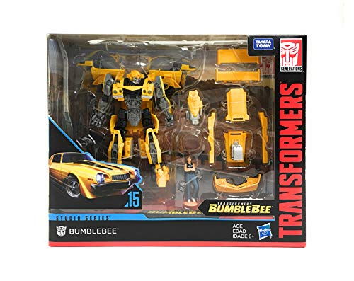 Transformers Studio Series Deluxe Class Rebekah's Garage Bumblebee with Charlie Exclusive Figure