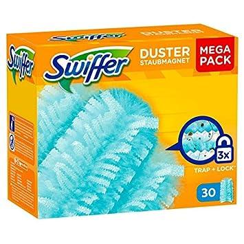 2 x Swiffer Duster polvo magnético Mega Pack paños cada 30 plumero cabezales: Amazon.es: Salud y cuidado personal