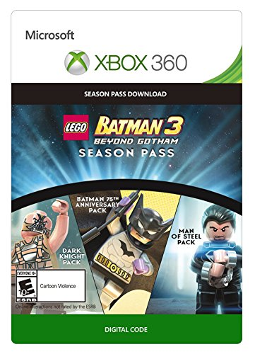 Lego Batman 3 Season Pass - Xbox 360 Digital Code by Warner Brothers