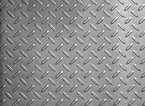Resilia - Garage Mat, Prevents Stains - Decorative Embossed Diamond Plate Pattern - Silver, 3 Feet x 4 Feet by Resilia (Image #2)