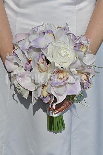 Bouquet Sposa Orchidea Bianca.Splendido Bouquet Da Sposa Con Orchidea Giglio Di Calla E Rosa