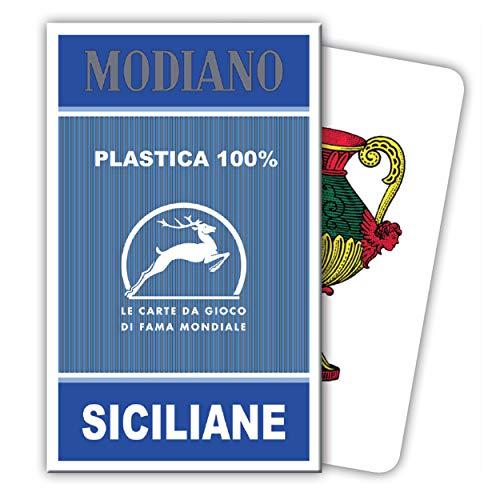 Modiano Siciliane Sicilian Italian Regional Deck 40 Playing Cards 100% -