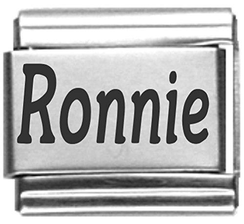 Ronnie Laser Name Italian Charm ()