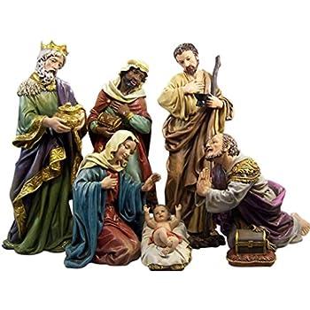 Marolin Christmas Nativity Three Magi Set 3 Figures 4.75 Resin MA743111 Made in Germany Made in Germany