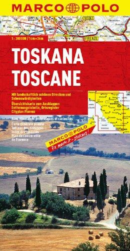 MARCO POLO Karte Toskana  Wegenkaart 1 300 000  MARCO POLO Karten 1 300.000