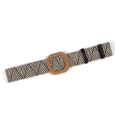 Cinturón de mujer, con cinturilla elástica decorativa, para camisa ...