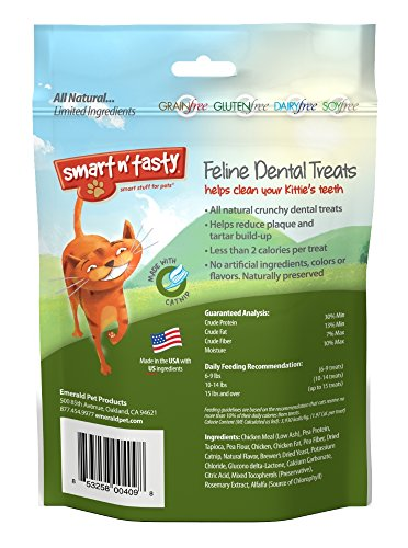 Smart-n-Tasty-Grain-Free-Catnip-All-Natural-Feline-Dental-Treats-for-Cats-3-Ounce