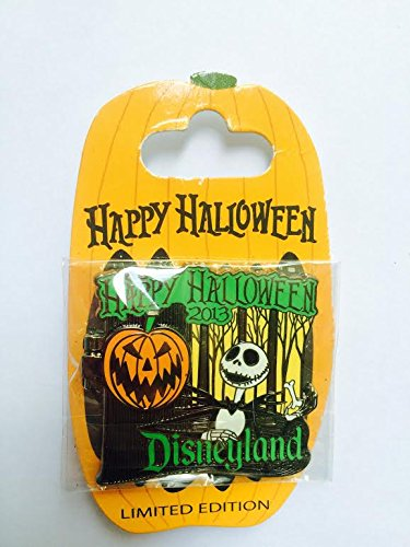 Authentic Disney LE Trading Pin - Happy Halloween 2013 Jack Skellington & Zero Card 98350 by Disney