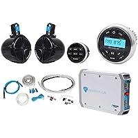 Rockville RGHR2 Marine Bluetooth Receiver+Remote+8 Wakeboards+2-Ch Amp+Wire Kit