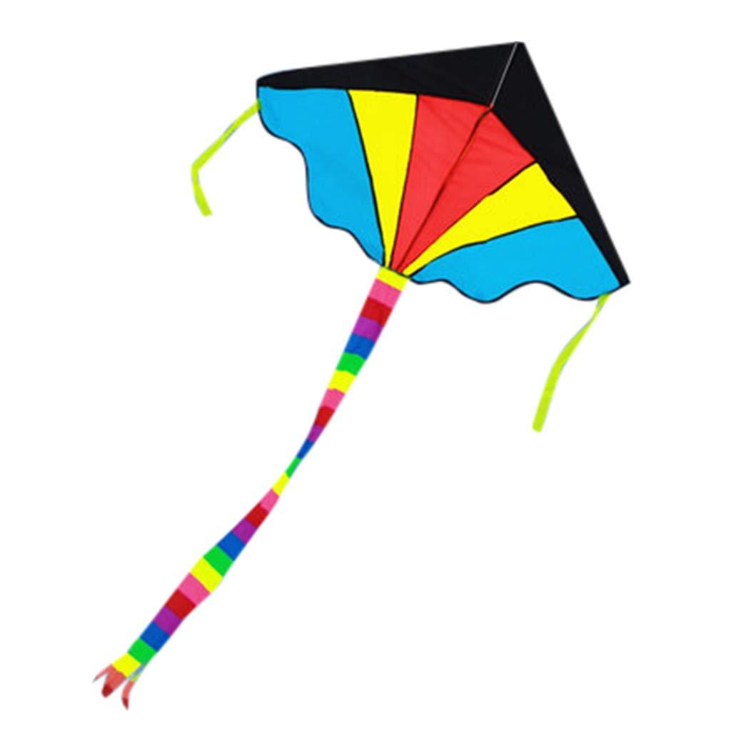 Hunpta@ Cometa para niños Colorido arcoíris triángulos Cometa al ...