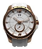 NOA Unisex Swiss Quartz Watch - Premium Analog Display With White Dial and Watch Band - Rose Gold Accents - Water Resistant Stainless Steel Fashion - SK3H-003