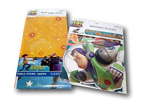 Toy Story Party Supply Set - Table Cover and Banner by Hallmark Party by Hallmark Party