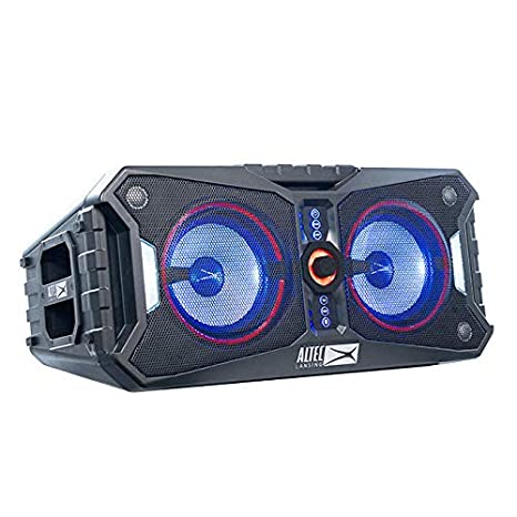 Altec Lansing ALP-XP800 Xpedition 8 Portable Waterproof Wireless Bluetooth  Indoor or Outdoor Speaker with Multi-Colored LED Light Show, Stereo