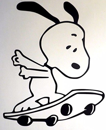 snoopy typing decal - 8