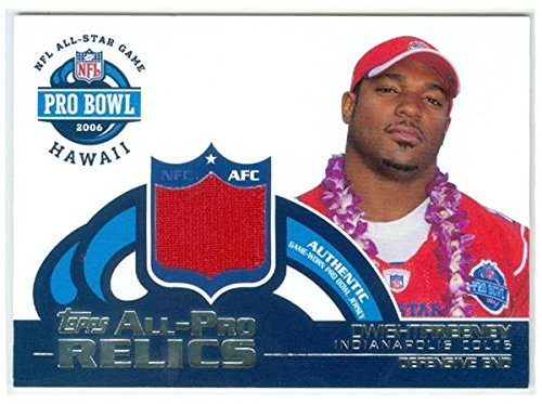 Dwight Freeney player worn jersey patch football card (Indianapolis Colts) 2006 Topps Pro Bowl Relics ()