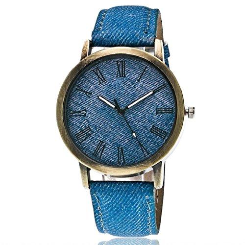 Quartz Wrist Watch,Hosamtel Couple's Delicate Denim Strap Analog Bracelet Watches (Blue) ()