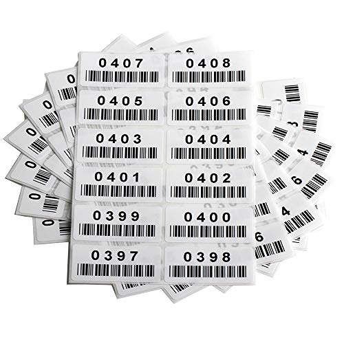 Pre-Printed Consecutively Numbered Labels Sticker with Bar Code 2