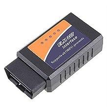Elisona-Bluetooth OBD2 Scanner for Android, Mini OBD II Diagnostic Adapter, Car Bluetooth OBD2 Code Reader Scan Tool Elm 327 for Check Engine Light (MIL) Trouble Code & Live Sensor Data - Support Torque