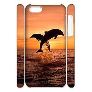MMZ DIY PHONE CASEGTROCG Dolphin Pattern Phone Case For iphone 6 plus 5.5 inch [Pattern-1]