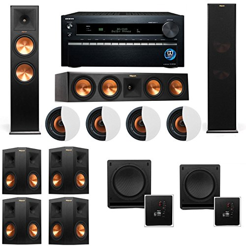 dolby-atmos-724-klipsch-rp-280f-tower-speakers-sw-112-with-onkyo-tx-nr1030