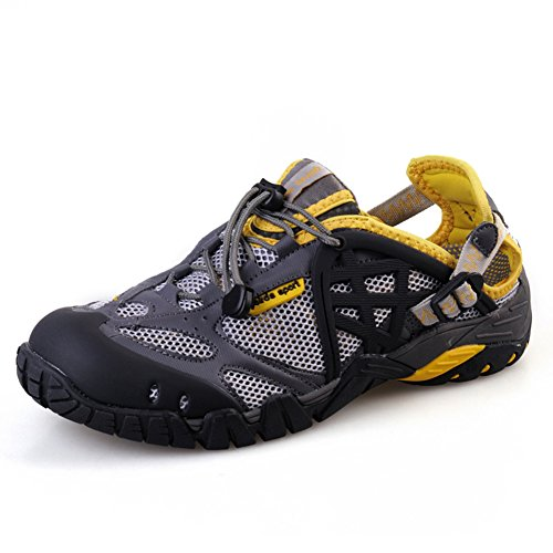 Sandal Water Women's and GreyYellow Outdoor Shoes Trail Men Baideng XfqW0A