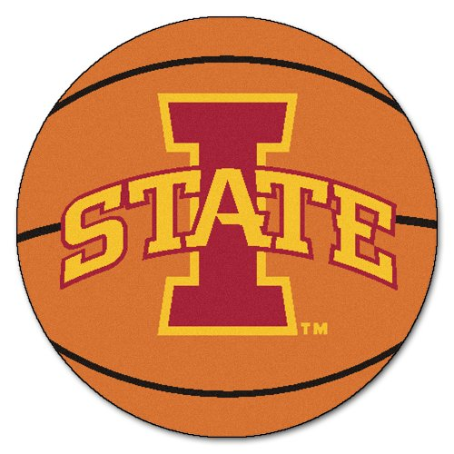 FANMATS NCAA Iowa State University Cyclones Nylon Face Basketball Rug -