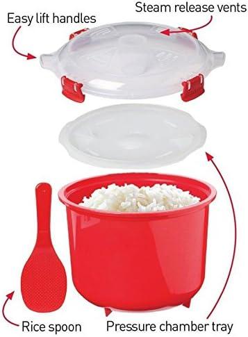 Olla para microondas coccion rapida con cesto 2,6L pollo arroz ...