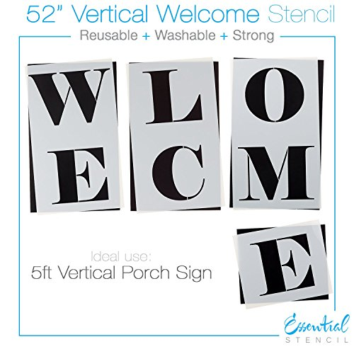 Essential Stencil Extra Large 52 Inch WELCOME STENCIL For Painting On Wood
