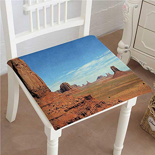 Dining Sandstone Sunbrella - Mikihome Dining Chair Pad Cushion Scenic View of Monument Valley Sandstone Butte Rocks Wild West Fashions Indoor/Outdoor Bistro Chair Cushion 24