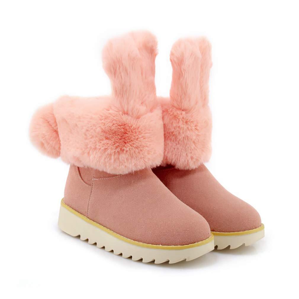Hy Frauen Booties Wildleder Winter dicken Boden Schneeschuhe/Niedrig Top Casual Winter Winter Casual Stiefel/Damen Große Größe Plus Thick Outdoor Ski Schuhe (Farbe : B, Größe : 38) - 4322b0