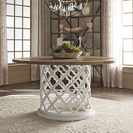 DESIGNER TABLE Moroccan Wood Round Coffee Table End Table White Cocktail  Table Furniture Top Drum Coffee