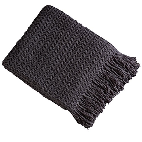 Brielle Winding Wave Throw, Gray