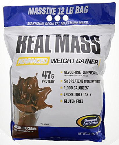 Gaspari Nutrition Real Mass Advanced Weight Gainer, Chocolate Ice Cream, 12 Pound by Gaspari Nutrition