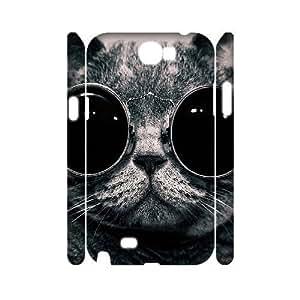 good case LIULAOSHI Cute Lovely Cartoon Cat cell phone case cover for samsung galaxy note2 hOp0iKdd3rJ 3D