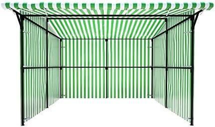 Fashion mercado Stall Walk en con voladizo delantero todos los colores y tamaños al aire libre comercio soporte quiosco funda para Profesional con marco de acero resistente Kit completo: Amazon.es: Jardín