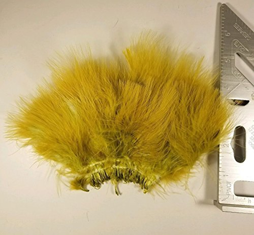 Strung Marabou Blood Quills Feathers Fly Tying Craft Hobby Hair Various Colors (Damsel Olive)