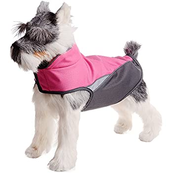 FOREYY Dog Jacket with Waterproof Outer Layer and Warm Fleece Inner Layer - Reflective Dog Pet Winter Coat Vest Apparel for Small Medium and Large Dogs(Rose Red,XXL)