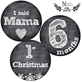 Deluxe Set (Milestones & Holidays) - 32 Chalkboard Baby Monthly Stickers - Shower Gift Idea or Scrapbook Photo Keepsake