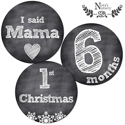(Deluxe Set (Milestones & Holidays) - 32 Chalkboard Baby Monthly Stickers - Shower Gift Idea or Scrapbook Photo Keepsake)