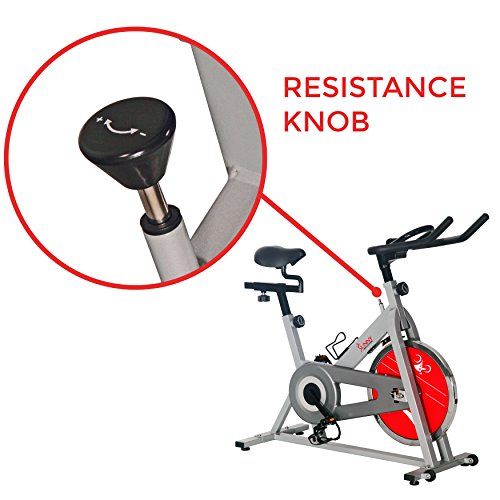 Sunny Health & Fitness SF-B1001S Indoor Cycling Bike, Silver by Sunny Health & Fitness (Image #4)