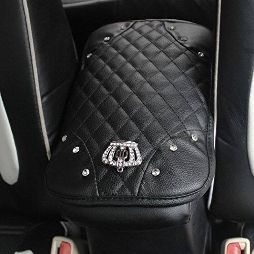 Alusbell Auto Center Console Pad, Car Leather Crown Center Console Decoration Cover Cushion(7.67in x 11.81 in)