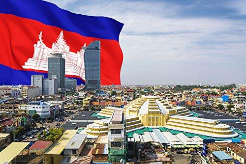 Phnom Penh冷蔵庫マグネット、The Capital Cityカンボジアの冷蔵庫マグネット   B072WJZ2XQ