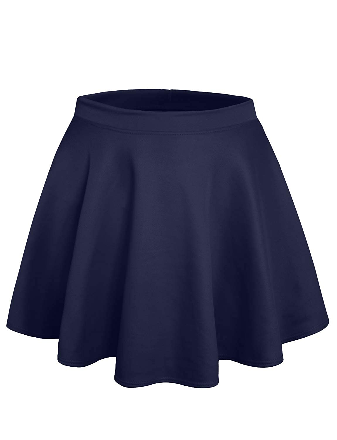 NE PEOPLE Stretchy Casual Mini Flared Skater Skirt Made in USA S-3XL