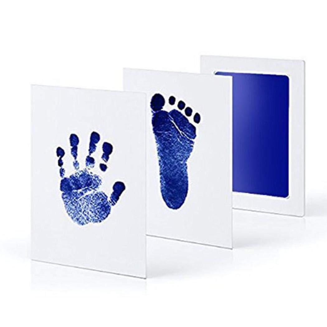 Gfone Baby Abdruckset Set für Fußabdruck Neugeborenen Baby Touch Stempelkissen Sicher Ungiftig Fußabdruck Handprint Pads Set