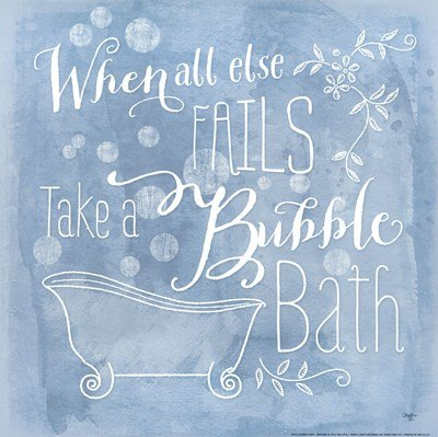 Take a Bubble Bath by Mollie B. - 12x12 Inches - Art Print Poster (Bubble Mollie)