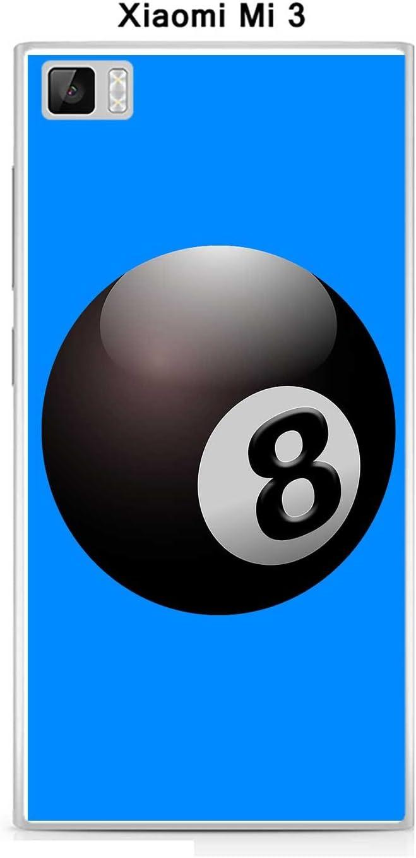 Onozo Carcasa Xiaomi Mi 3 diseño Bola de Billar N ° 8 Puerta ...